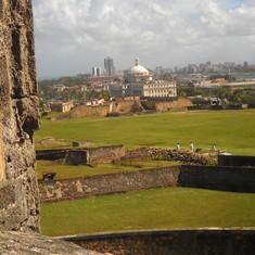 San Juan, Puerto Rico - The view towards the city