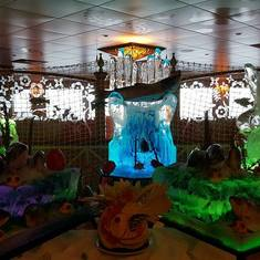 Ice Display at Garden Cafe