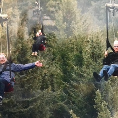 Zip line at Icy Strait Point