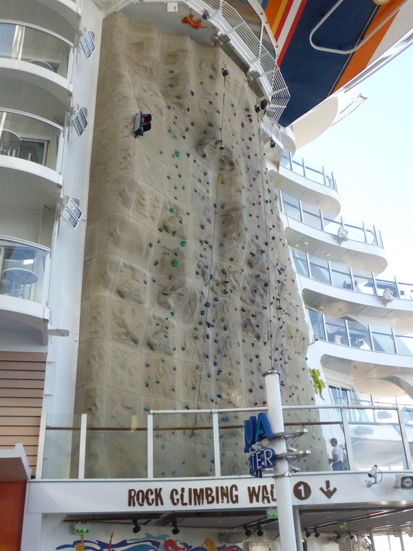 Rock Climbing Wall - Allure of the Seas