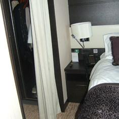 floor space around the bed