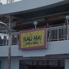 Bali Hai bar and grill