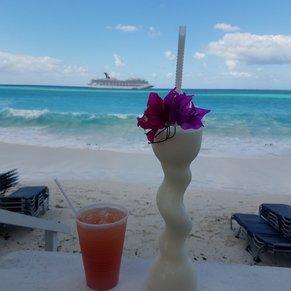 View from Cabana 14. Half Moon Cay.