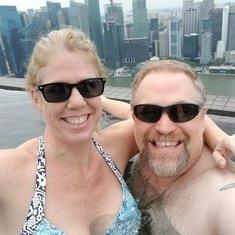 Infinity pool on the 60th floor