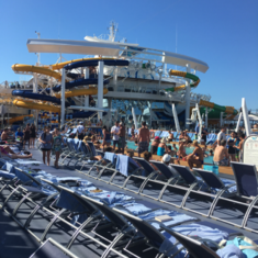 Waterslide Launch Area on Harmony of the Seas
