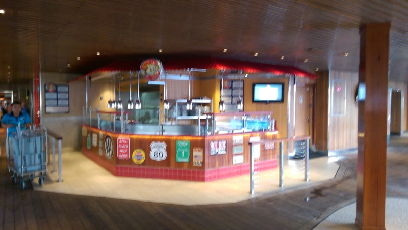 Great place for a burger - Carnival Conquest