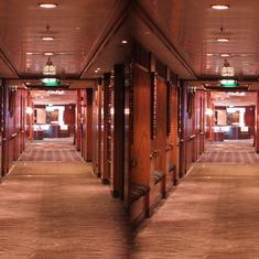 View down a corridor