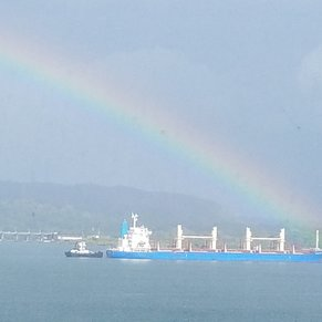 Only rain we had was on Gatun Lake.