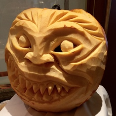 Halloween pumpkin carving.