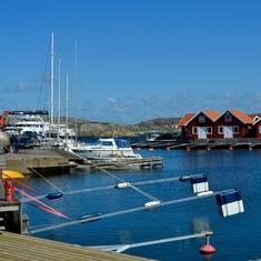 Fishing village in Sweden