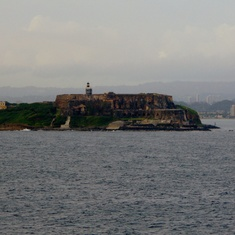 San Felipe Del Morro Fort from the ship