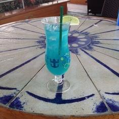 Margarita Azul! Yum!
