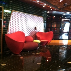 Comfy looking chairs on Deck 5, Carnival Splendor