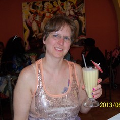 Having a pina colada at the birthplace of the pina colada.