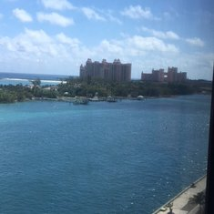 View of the Atlantis from the Lido Deck on the boat
