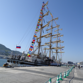 Russian training saling ship at the festival of sails
