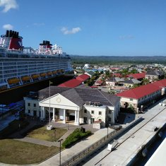 At port in Jamaica