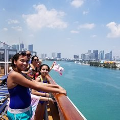 Miami view from upper deck