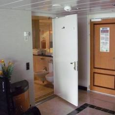 Entry way and bathroom