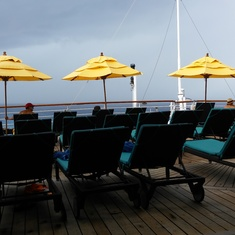 Serenity Deck in typical summer Gulf weather