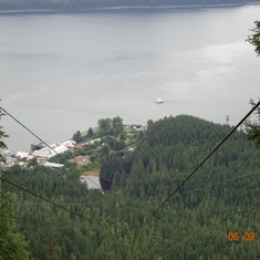 View from the top of the Zip Line