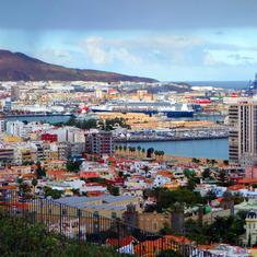 Holland America's ms Rotterdam docked in Las Palmas, Spain