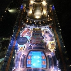 Up 350 ft off the deck