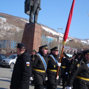 May Day in Petropavlosk, Russia