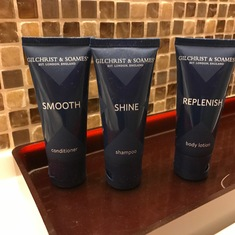 Bathroom amenities in verandah cabins