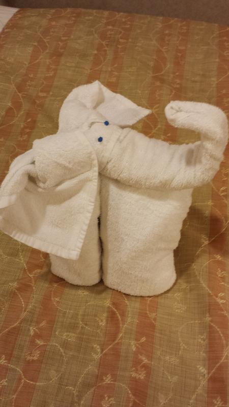 Carnival Valor cabin 1446 - Towel - elephant