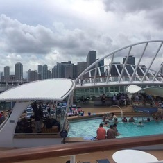 The poolside on Deck 9