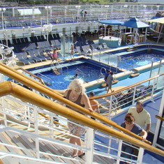 The pools on the Pride of America