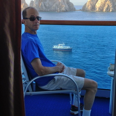 Enjoying the arches at Cabo--doesn't get any better than this.