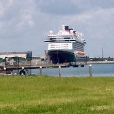 Port Canaveral, Florida - Shot of the front of Disney Dream