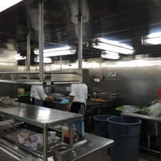 Galley; behind the scenes tour.