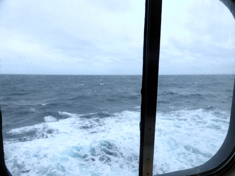 View of the ocean from our stateroom - Amsterdam