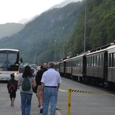Skagway, Alaska - Disembarking ship in Skagway