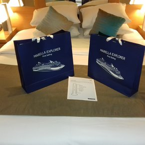 Maiden voyage Tui Explorer gifts