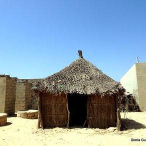 Fulani Village in the bush - very primative