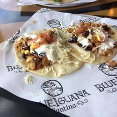 yummy tacos from Blue Iguana