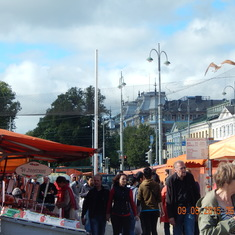 Open market in Helinski
