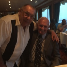 John with Ron, Shirleys husband. It was their 60th wedding anniversary.