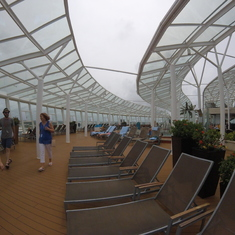 Solarium Pool Area on Allure of the Seas