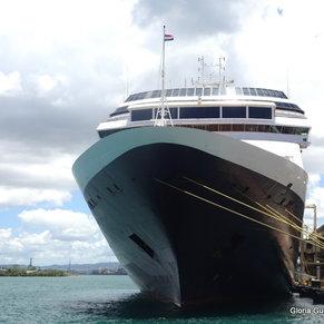 Amsterdam docked in San Juan