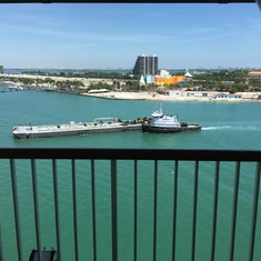 Miami balcony view