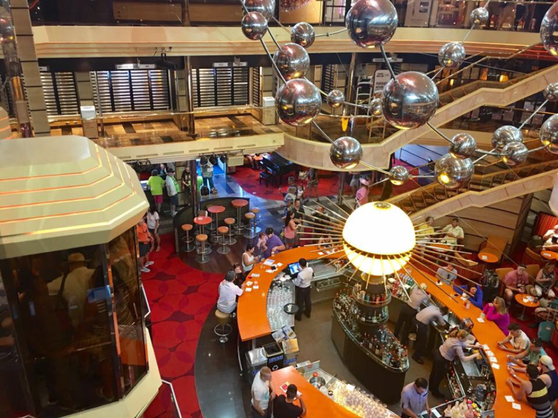Carnival Sunshine, Entertainment, Sunshine Atrium