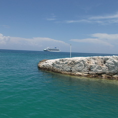 Leaving Great Stirrup Cay heading to the Sky