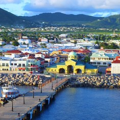 Basseterre St.kitts.Great walk around port