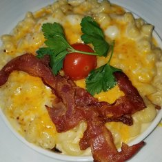Bacon Mac and cheese from Sea Day Brunch