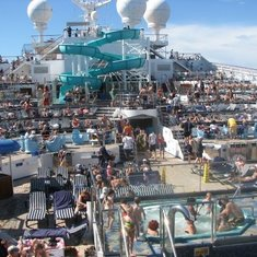 Day at Sea on the Lido Deck